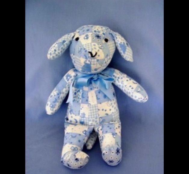 hellblauer Patchworkhund | Geschenkideen für kinder, Kinder ...