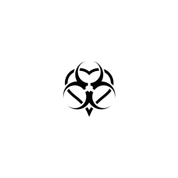 Temporary Tattoo Biohazard Symbol Liked On Polyvore Featuring