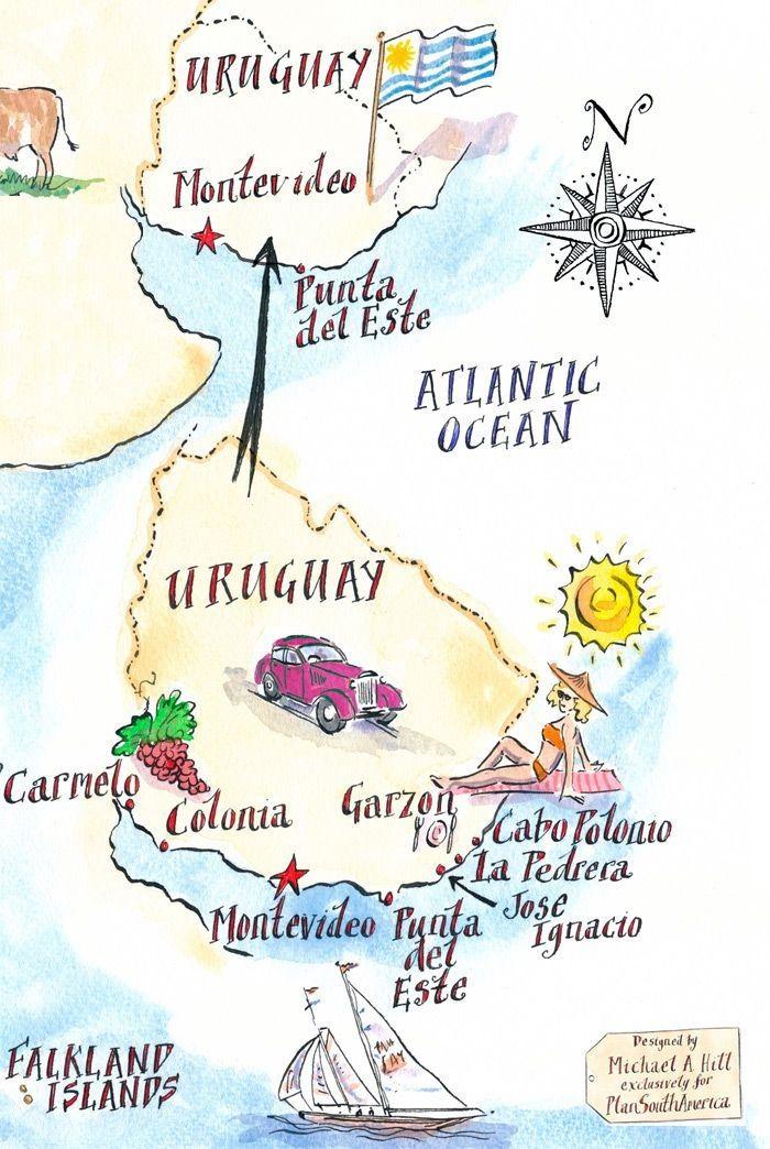 Uruguay Con Imagenes Mapa De Uruguay Republica Oriental Del