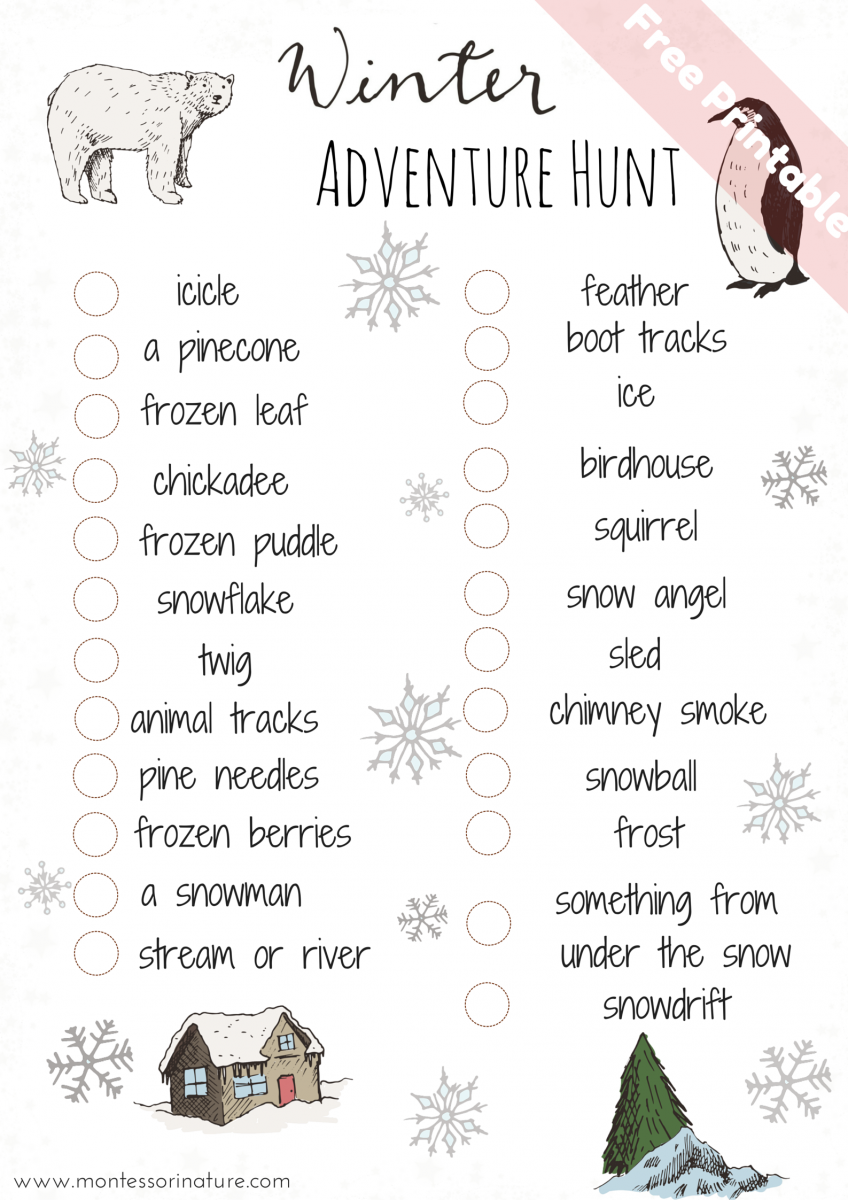 Photo of Outdoor Winter Activities For Kids | Montessori Nature