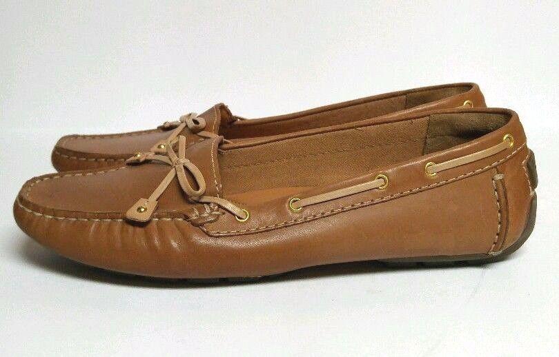 383d7984452 Clarks Dunbar Racer Boat Shoes Tan Brown Driving Moccasin Loafer Women s 9  N  Clarks  LoafersMoccasins