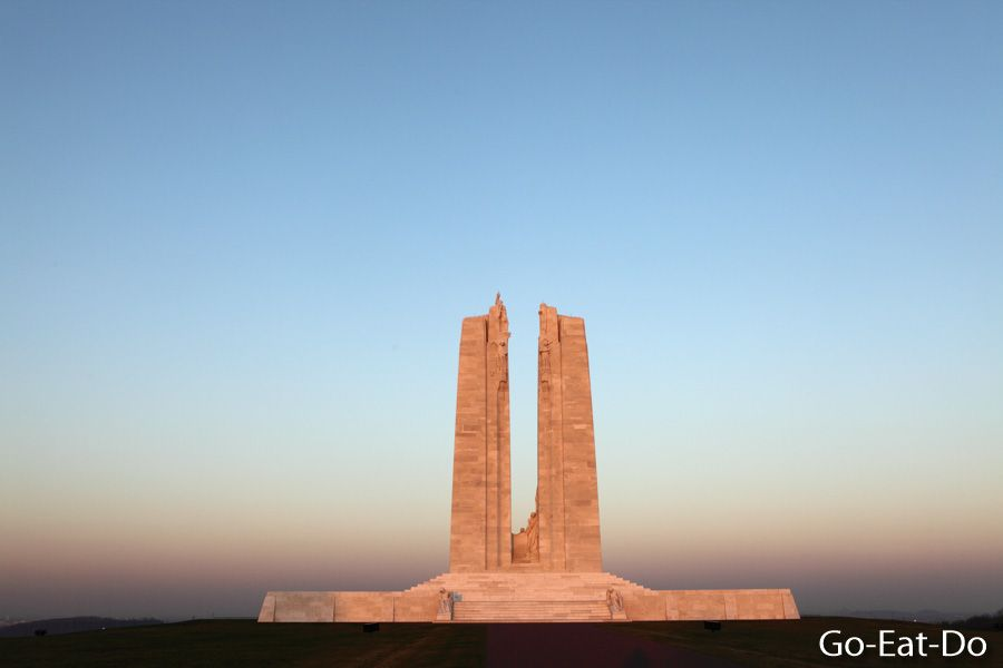 The Vimy monument at the Vimy Ridge National Historic Site of Canada.