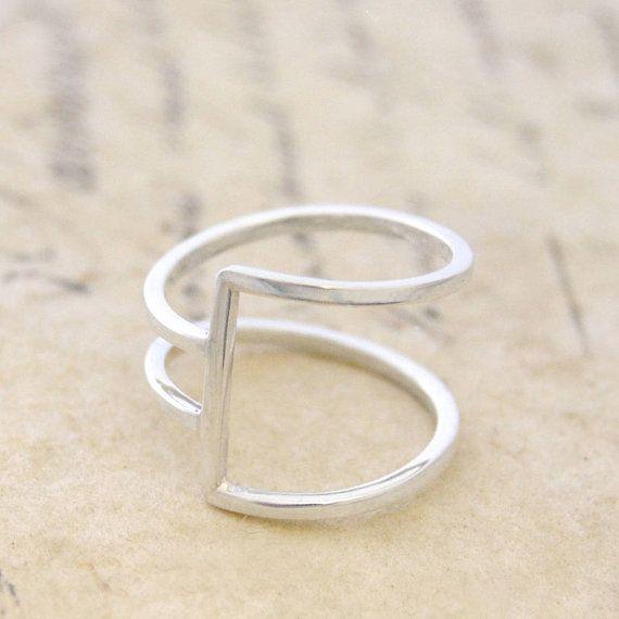 Sterling Silver Ring - Ring for Women - 925 Silver Ring - Modern ...
