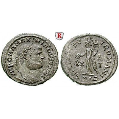 Römische Kaiserzeit, Maximianus Herculius, Follis 301, vz-st: Maximianus Herculius 286-310. AE-Follis 27 mm 301 Alexandria. Kopf r.… #coins