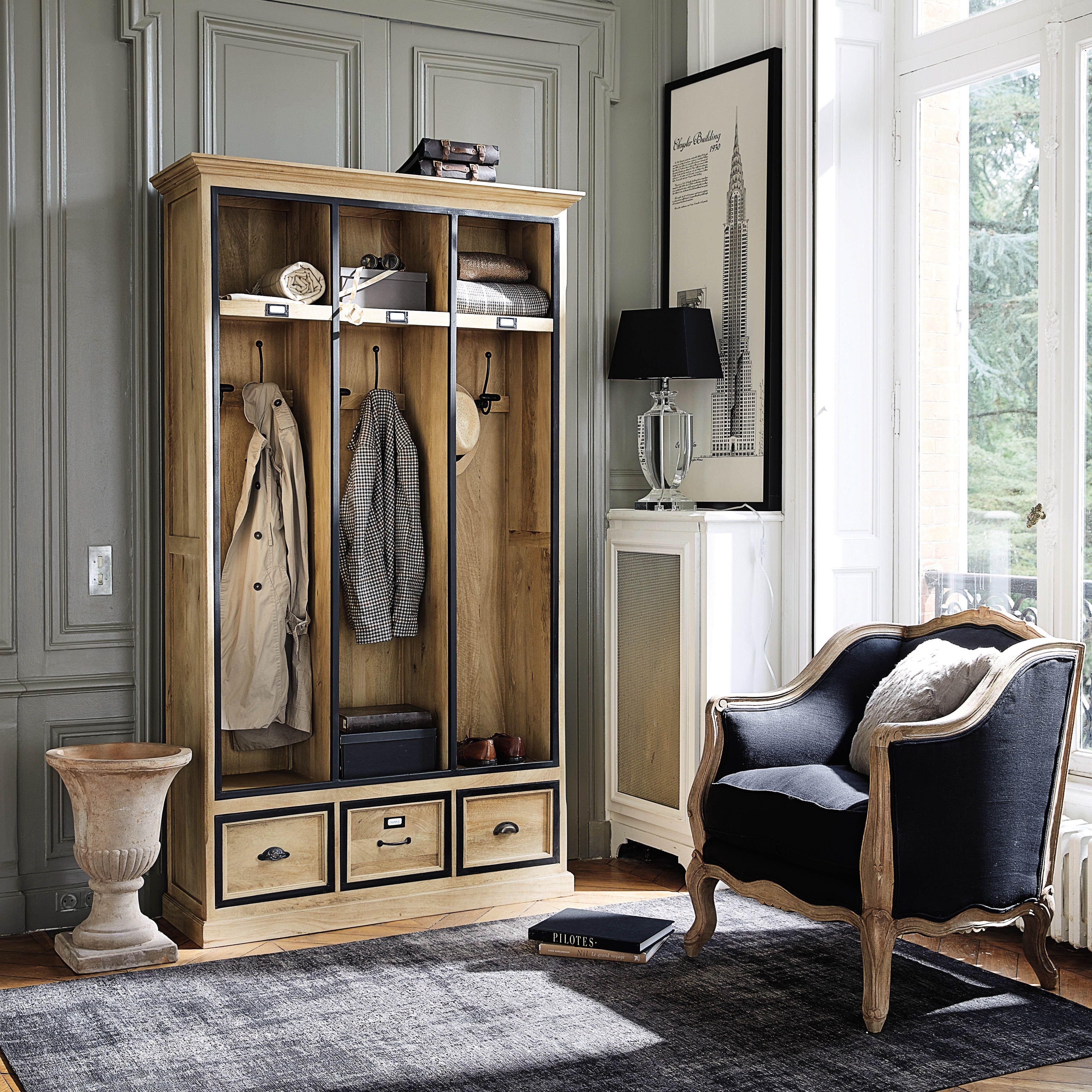 meuble d 39 entr e avec 6 pat res en manguier massif l 120 cm pinterest pat re maison du monde. Black Bedroom Furniture Sets. Home Design Ideas