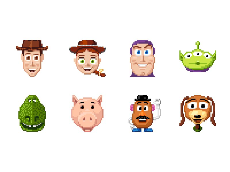 Buzz Lightyear Icon: Toy Story 1995, Toy Story, Pixel