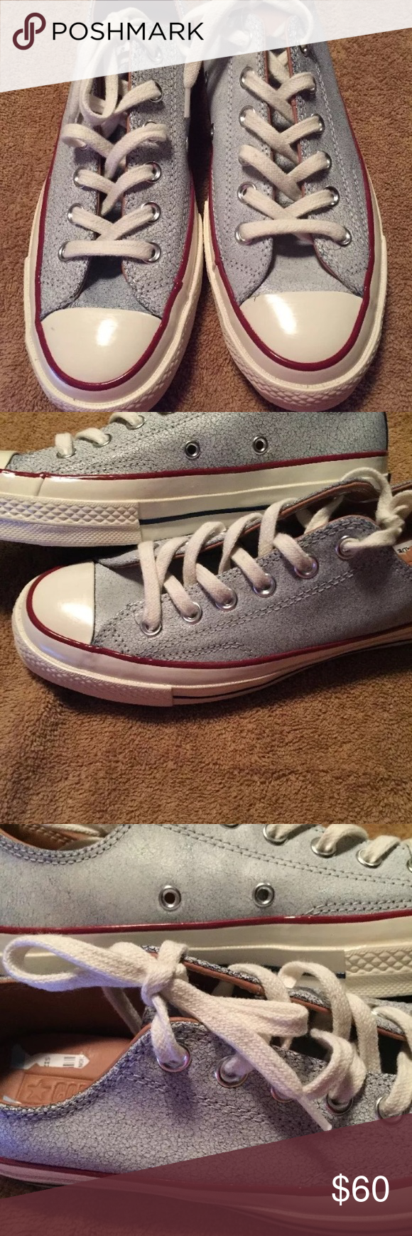 63b7000ff63726 Unisex CONVERSE 70s CRACKED LEATHER SNEAKERS SZ7.5 CONVERSE CHUCK TAYLOR  NEW WITHOUT BOX WAS
