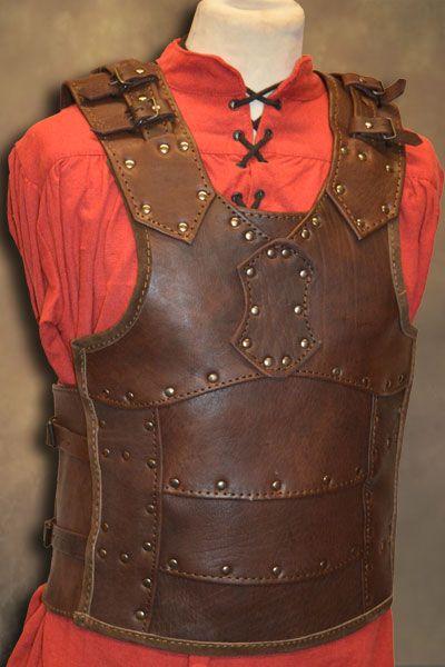 Medieval Armor Leather Vest skirt Genuine  Armor costumes original sca larp