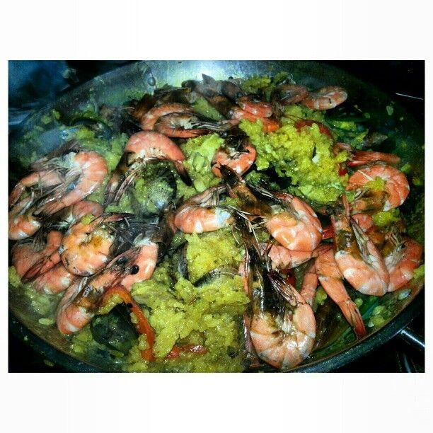 #大晦日#パーティー#パエリア #paella #newyearseve #home #party #yummy #dinner#food#philippines#フィリピン