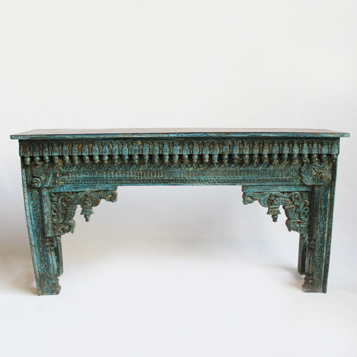 Antique carved wood indian doorway fragment repurposed into a antique carved wood indian doorway fragment repurposed into a beautiful console or hall way table geotapseo Gallery