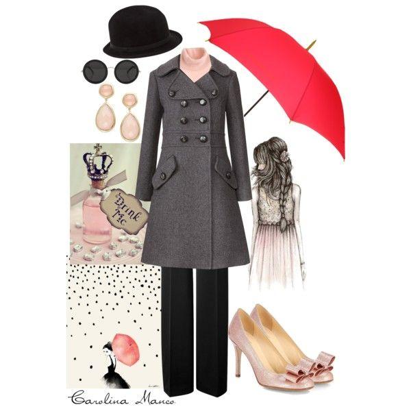"""""""Rainy Day Pinks"""" by itscaroman on Polyvore"""