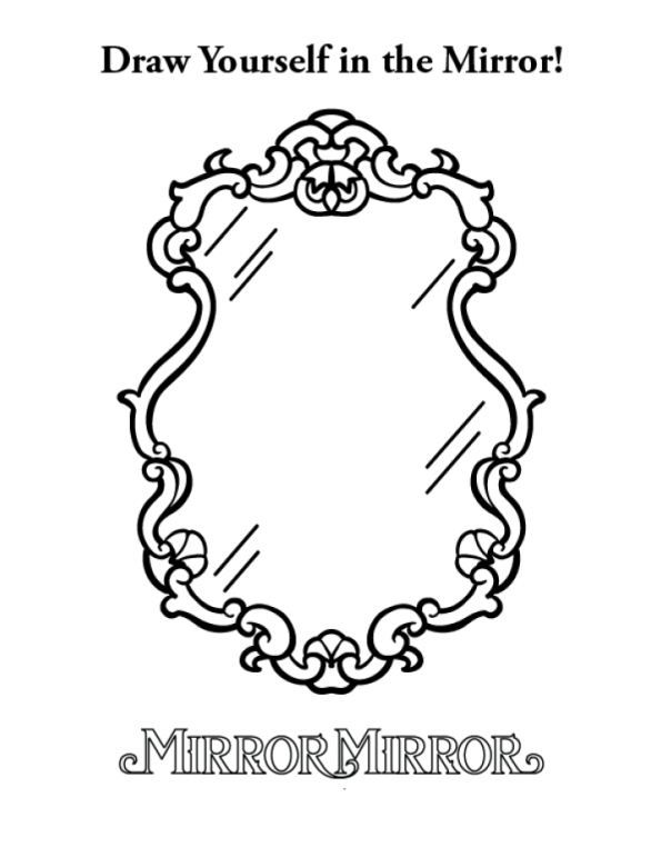 coloring page Mirror Mirror - Mirror Mirror Birthday Parties - new snow coloring pages preschool