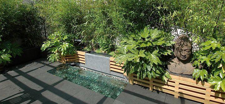Une fontaine tr s zen jardin terrasse balcon for Jardin japonais sur terrasse