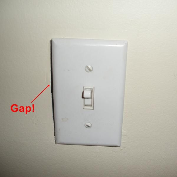 Oversized Switch Plate Covers Unique Fixing The Outlet Hole That Was Cut Too Big The Simple Fix Is Inspiration Design