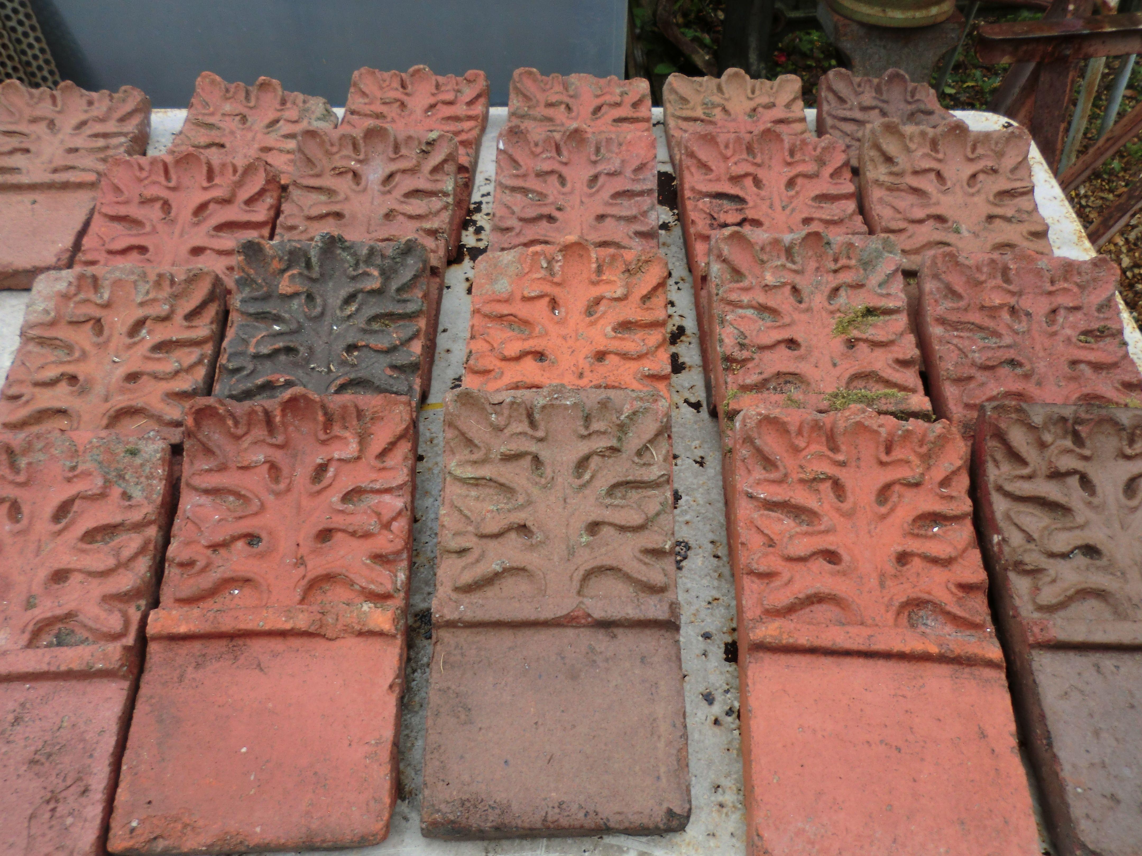 Ancienne bordure en terre cuite de quoi faire 2m 80 de bordure pour orner un joli potager - Bordure de jardin ancienne en terre cuite ...