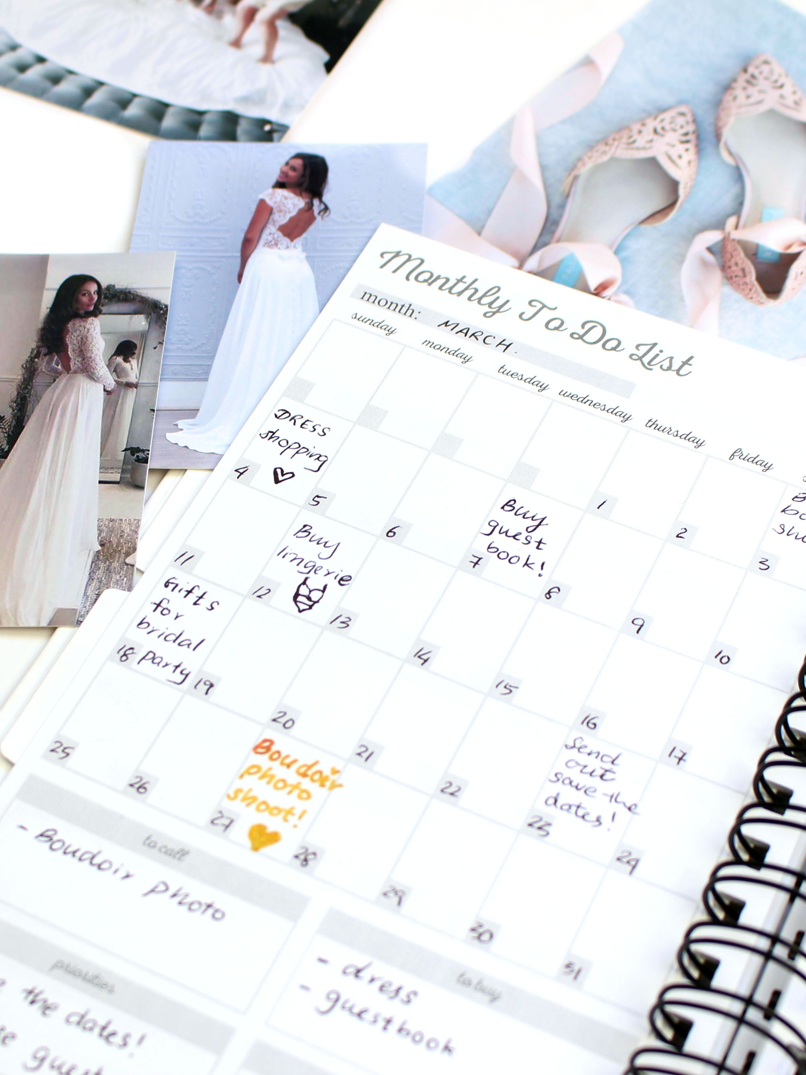 Wedding Checklist Month by Month Personalized Wedding Planner Book