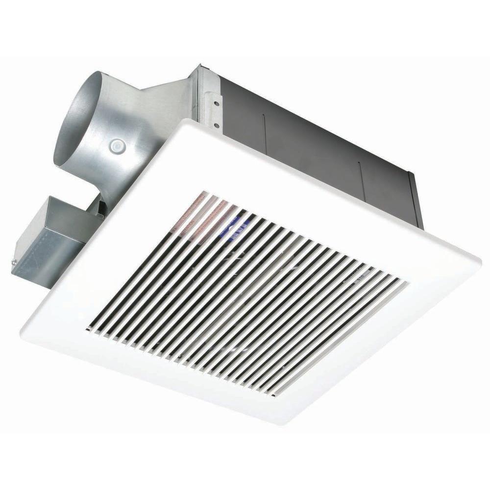 Panasonic Quiet 80 Or 110 Cfm Ceiling Low Profile Dual Speed Bath