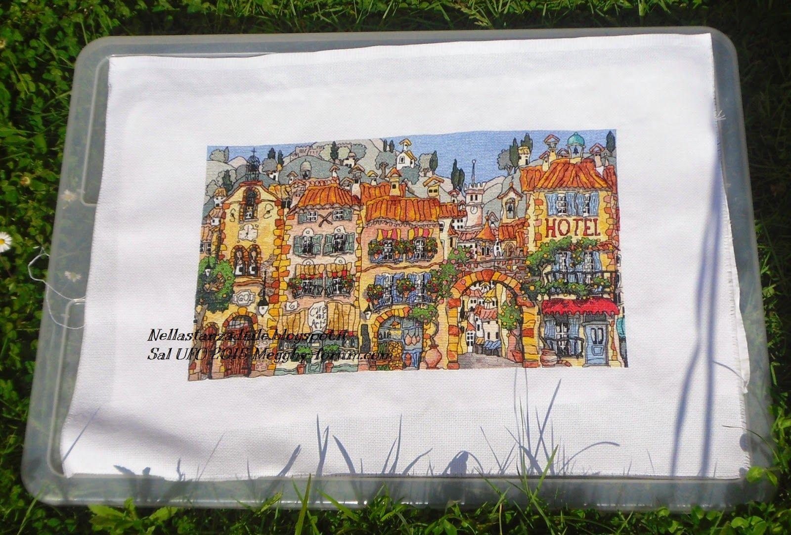 Michael Powell handmade houses of Provence cross stitch punto croce punto de cruz point de croix