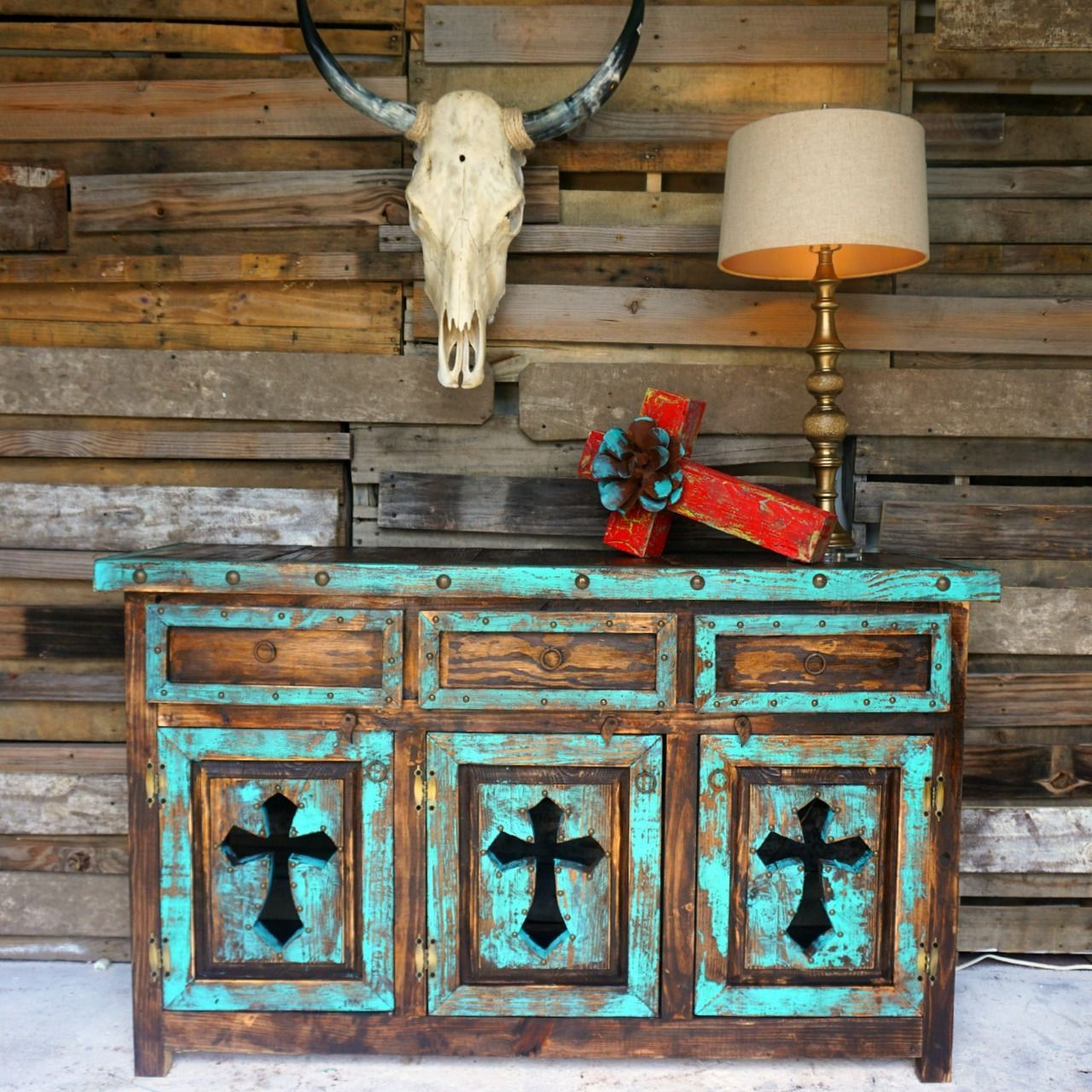 Tres Cruses Buffet-Turquoise