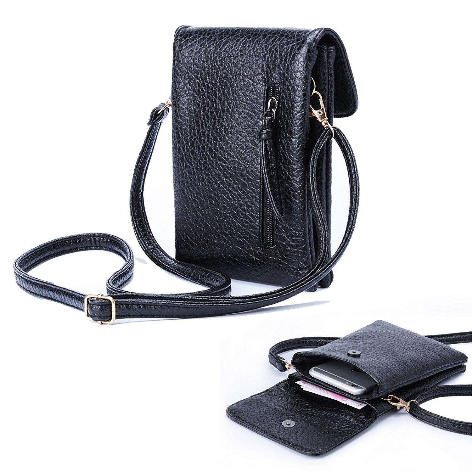aed1c35aa5f2 Katloo PU Leather Small Crossbody Bag Wallet Purse Cellphone Pouch with Shoulder  Strap for Women Girls -- To view further for this item