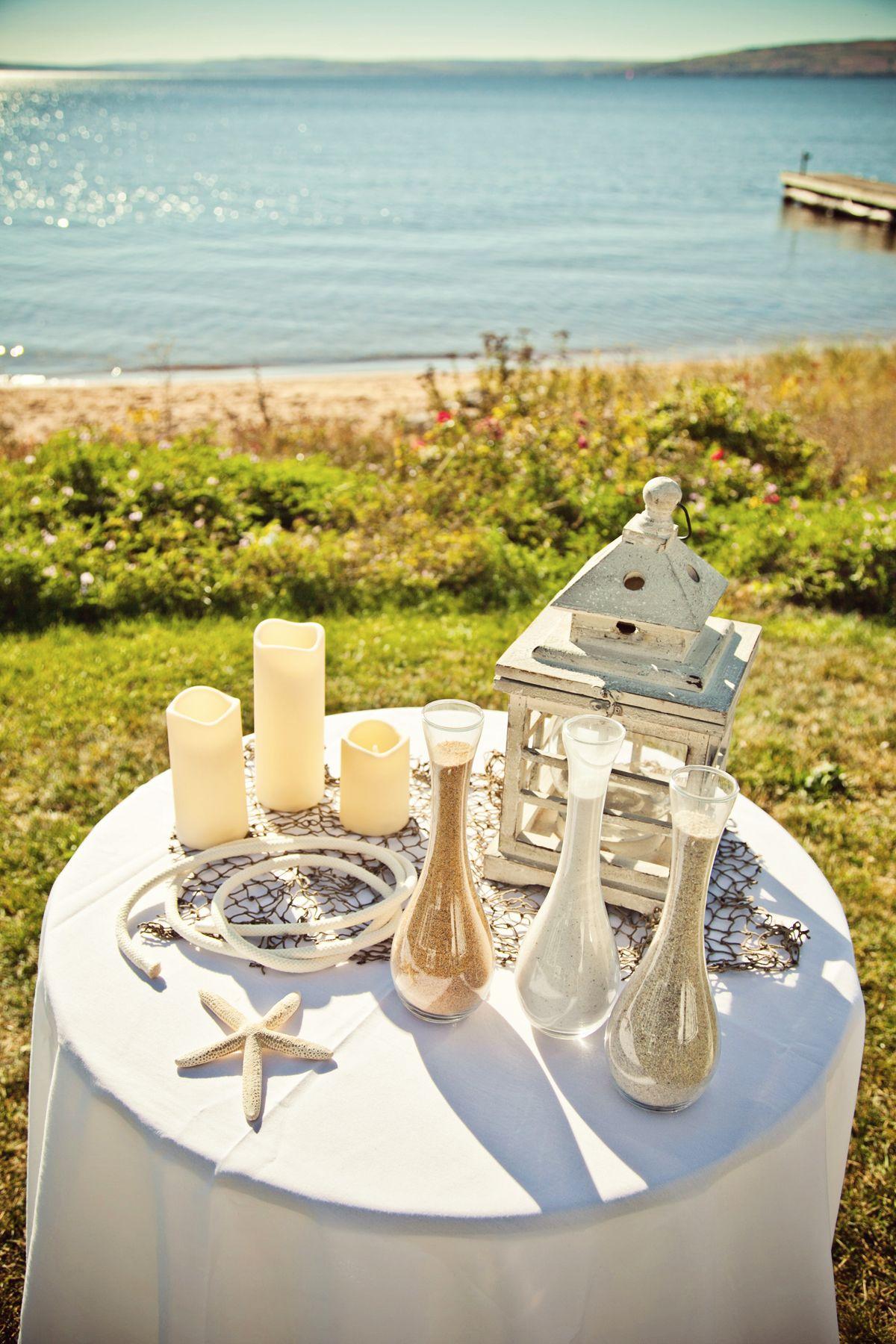 Beach wedding decorations diy  Nautical themed wedding Photo by Kelly T