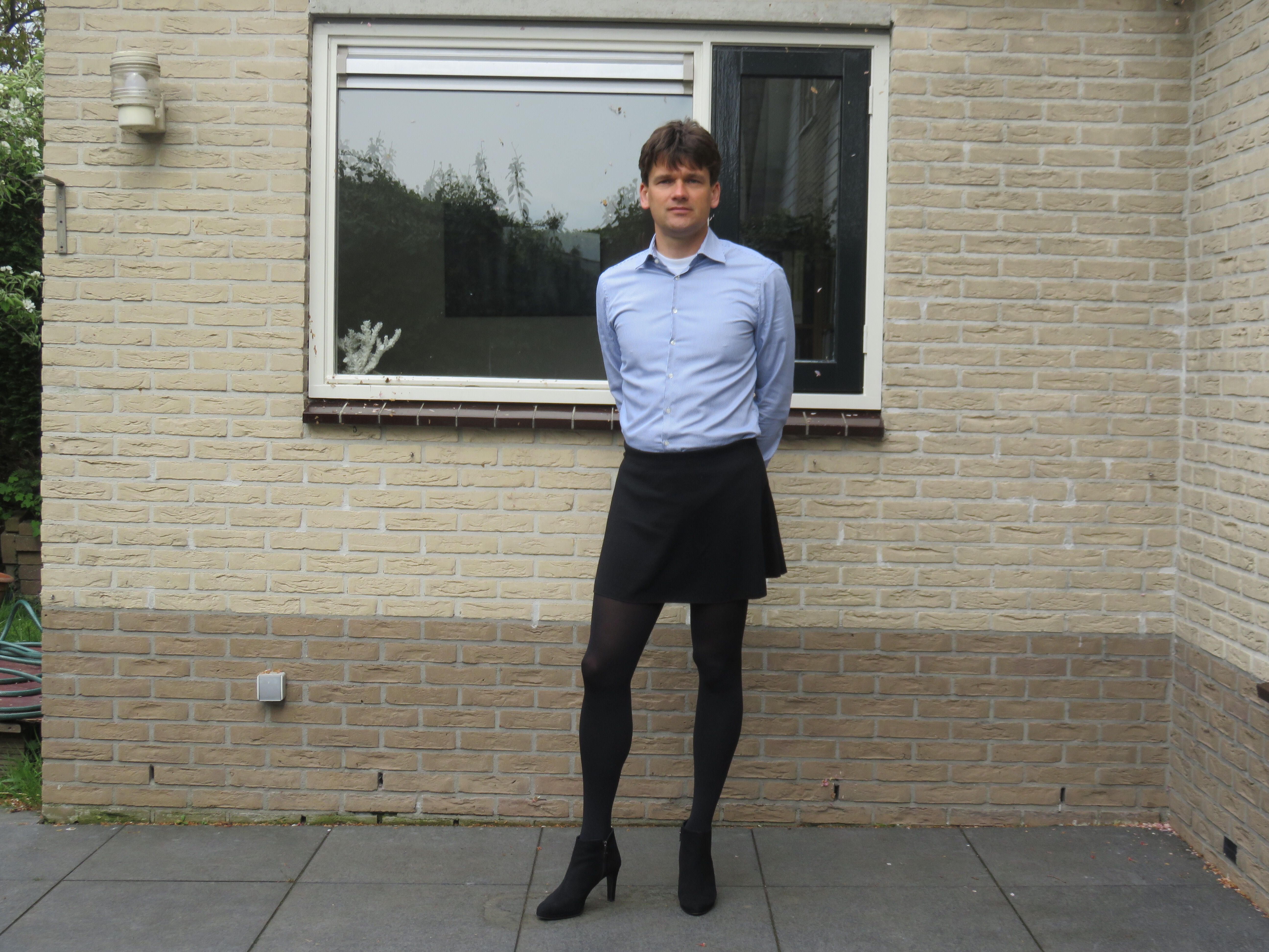Male skirt and tights