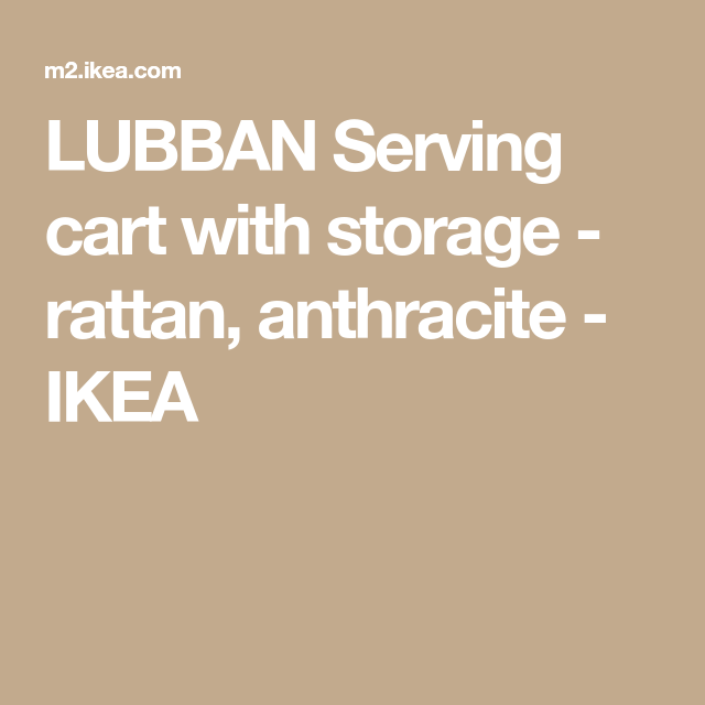 LUBBAN Rattan, Anthracite Serving cart