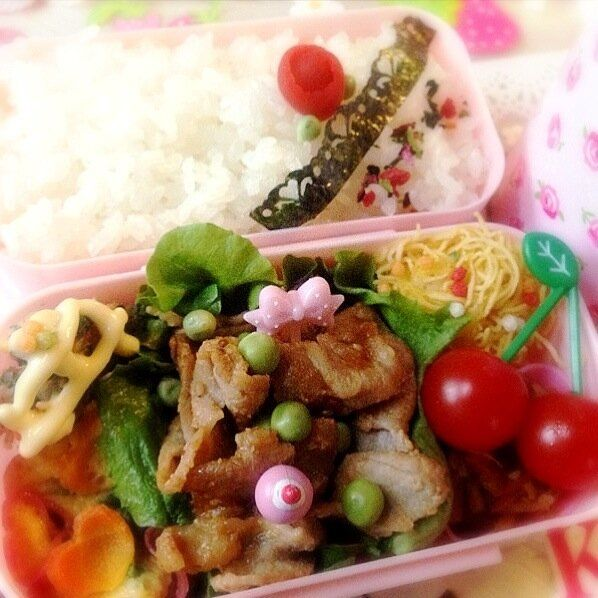 Twitter from @arashiyamabisco 焼肉弁当♡ #obentoart http://snapdi.sh/d/PXa0ia