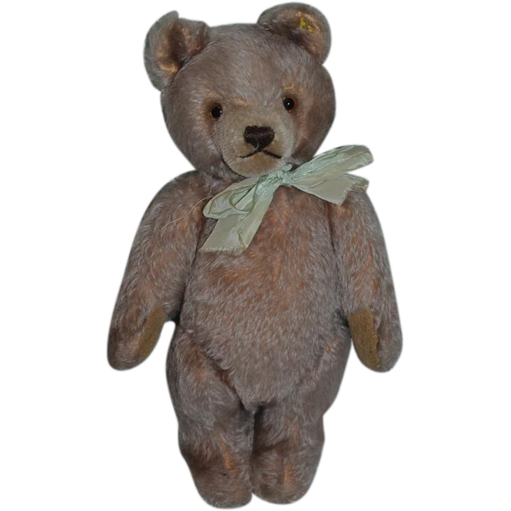 Old Teddy Bear Steiff W Silver Button Tag Jointed Mohair Old Teddy Bears Teddy Bear Steiff Teddy Bear