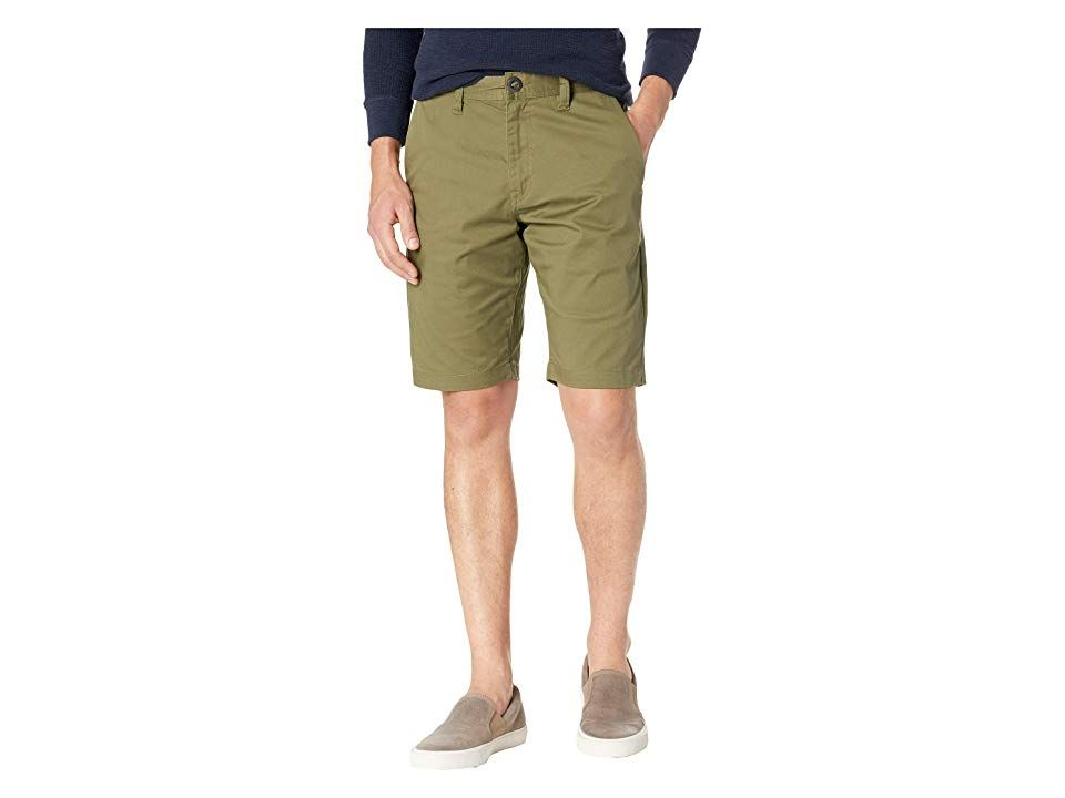 859ebdfa Volcom Frickin Modern Stretch Chino Shorts (Vineyard Green) Men's Shorts.  Crafted from Eco