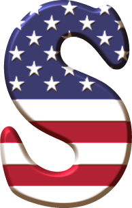 Oh My Alfabetos Alfabeto Con La Bandera De Usa Bandera De Usa Moldes De Letras Abecedario Alfabeto