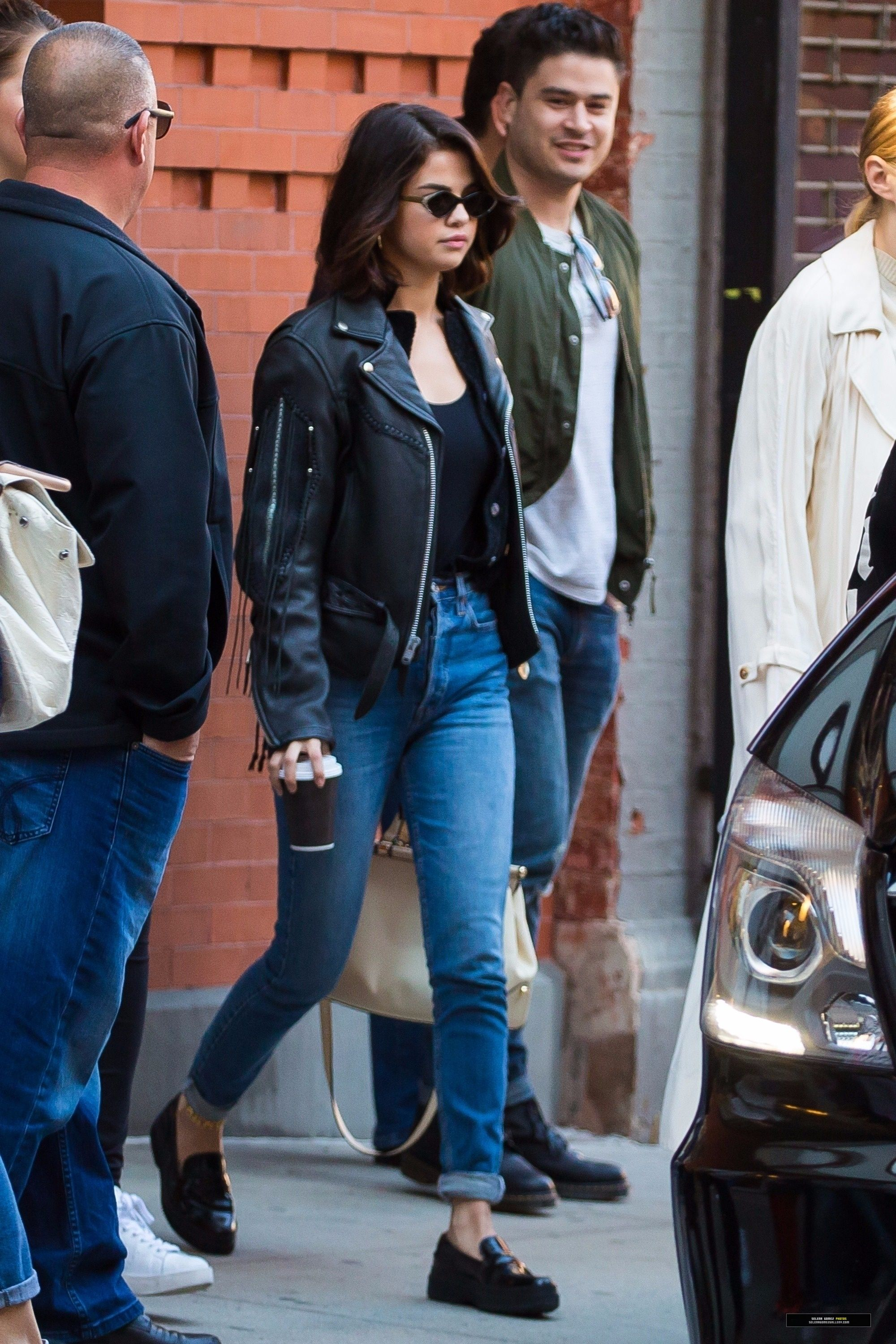 Selena Gomez in 2019 | Selena gomez casual, Selena gomez outfits, Biker jacket outfit women
