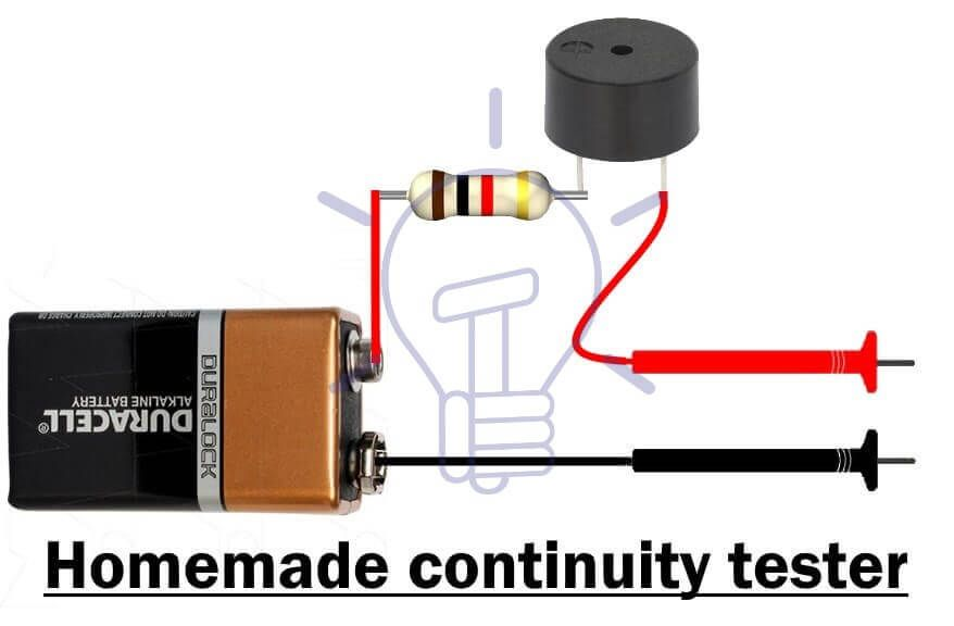 How To Perform A Continuity Test For Electric Components With Multimeter Multimeter Electricity Home Electrical Wiring