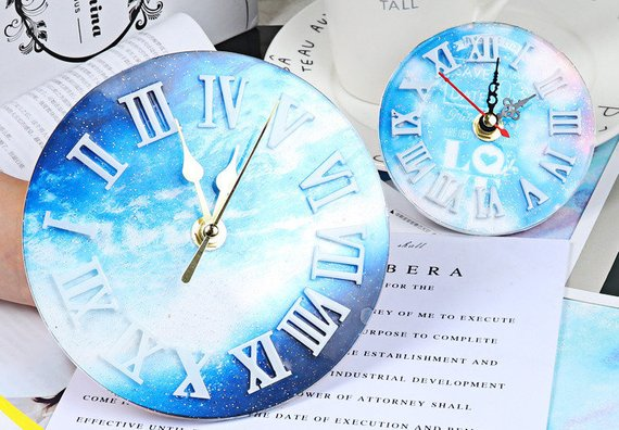 Wall clock Silicon Resin Mold - Decoration Resin Silicone