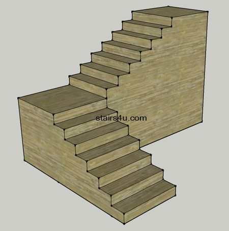 Best L Stairs With Walls Under Stringers Building Stairs 400 x 300
