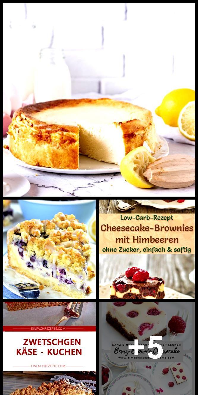 Low Carb Cheesecake Brownies with Raspberries - Simple recipe without sugar Low Carb Cheesecake Bro