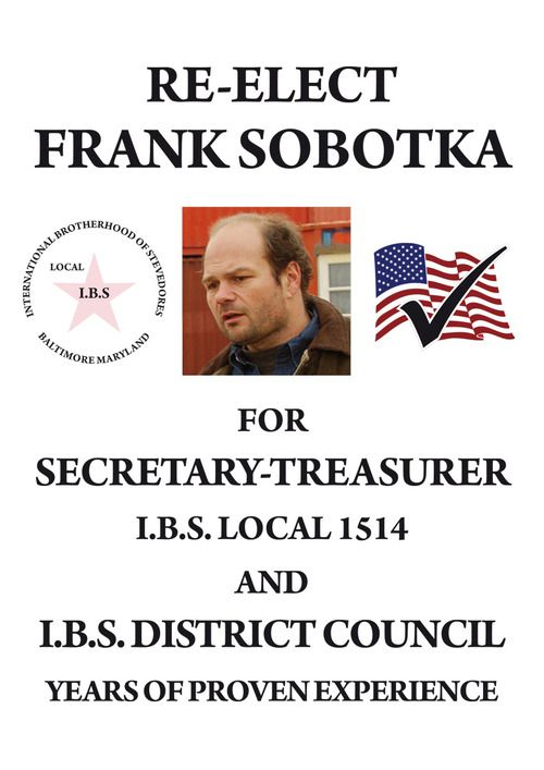 RE-ELECT Frank Sobotka The Wire