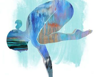 "yoga ""lotus pose""  sun colors small yoga art yoga"