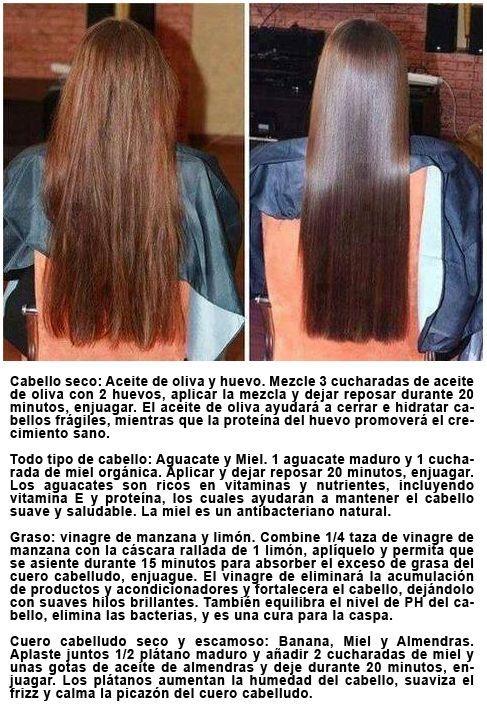 Danado para tratamientos y caseros el seco pelo
