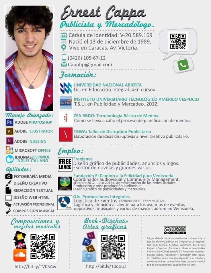lettre espagnol el cv curriculum
