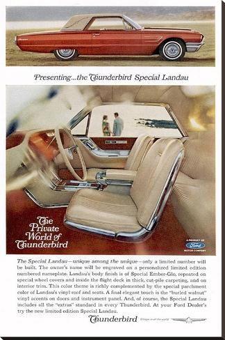 '1965Thunderbird Special Landau' Stretched Canvas Print – | Art.com