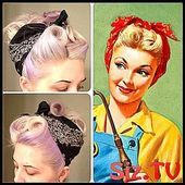 50s hairstyles with bandana tutorial Foto 038
