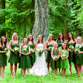 Green Bridesmaids Dresses In Diffe Styles Photo By Carrie Patterson