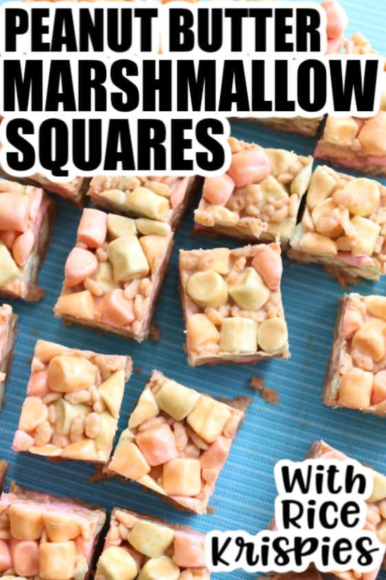 No-Bake Peanut Butter Marshmallow Squares (Confetti Squares) #confettisquares