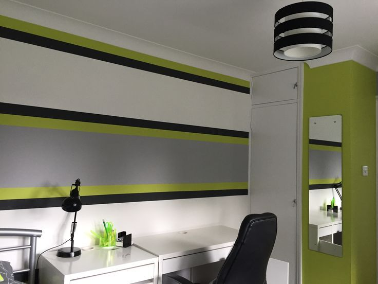 Lime Green Grey Boy S Bedroom Lime Green Bedrooms Green Boys