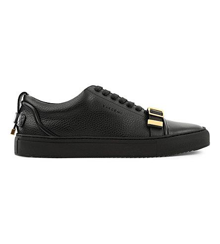 Grained Leather Low-top Sneakers