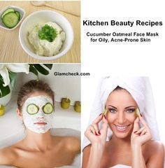 Cucumber facial mask for oily and acne prone skin S