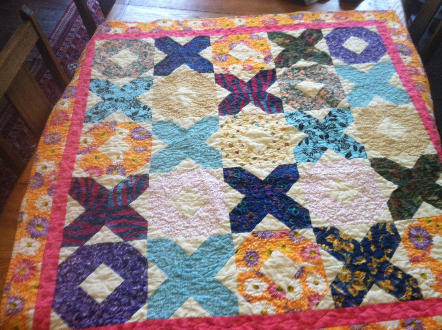 Handmade Hugs And Kisses Baby Quilt By ScrappyLittleMomma On Etsy