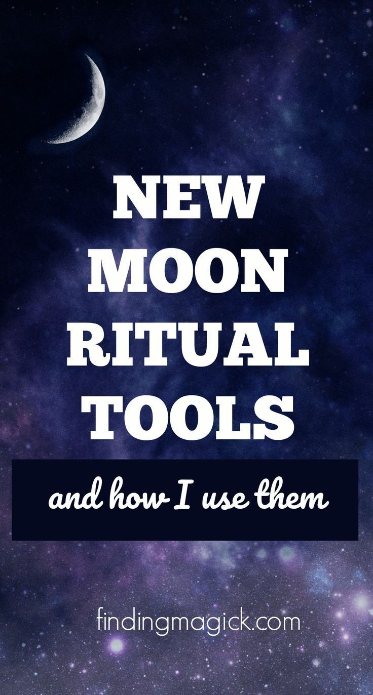 My New Moon Ritual Tools and How I Use Them - Finding Magick