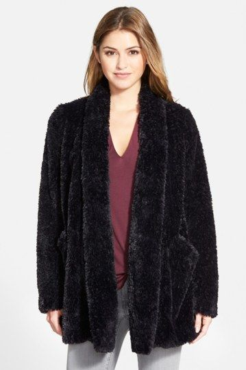 Teddy Bear Faux Fur Clutch Coat by Kenneth Cole New York on @nordstrom_rack